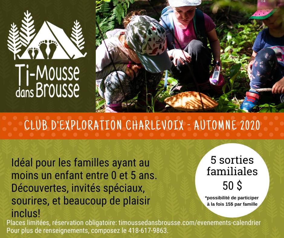 Club d'exploration Charlevoix - 5 semaines