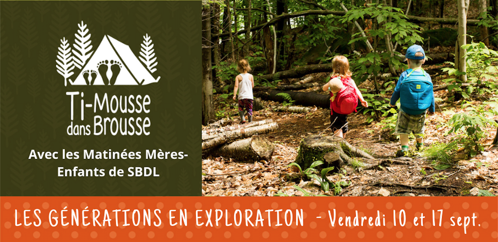 Club d'exploration à Sainte-Brigitte-de-Laval, Balade 1 Sentier des Dunes